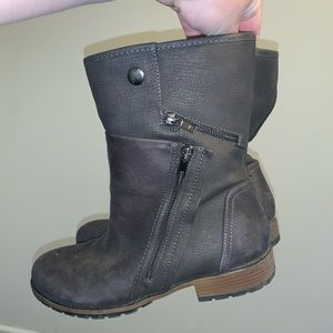 Grey boots from Maurices